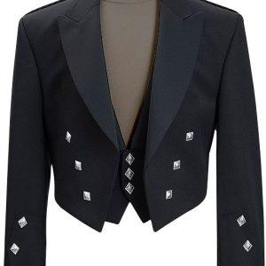 Scottish Prince Charlie New Kilt Jacket With WaistcoatVest Custom Size 36-54