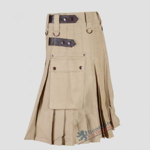 Scottish Men Khaki Utility Kilt For Sale