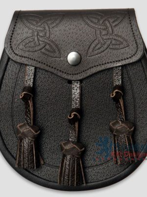Scottish Brown Leather Sporran