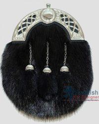 Scottish Black Fur Sporran