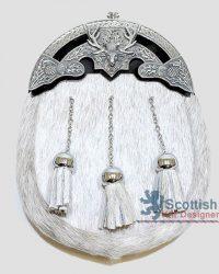 Scottish White Fur Sporran