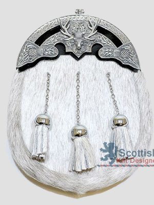 Scottish White Fur Sporran