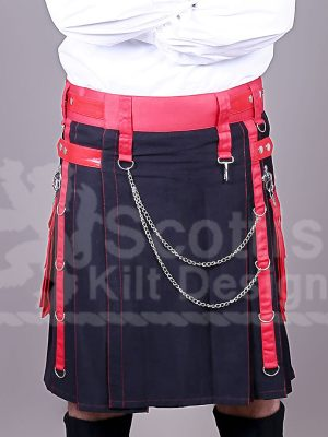Black Scottish Utility Kilt for sale
