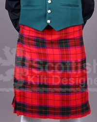 Scottish Tartan Red Cotton Kilt