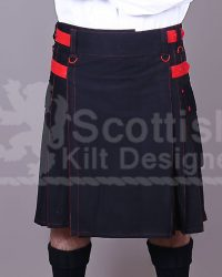 Scottish Black men Utility Kilt