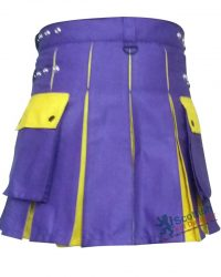 Purple Cotton Two Toned Scottish Kilt