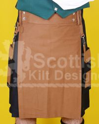 Scottish Black Modern Utility Kilt