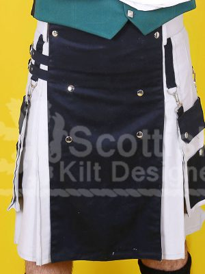 Scottish White Two Toned Kilt for sale
