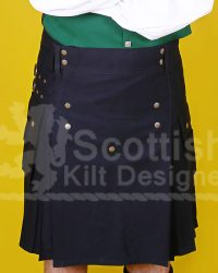 Scottish Men Black Modern Utility Kilt