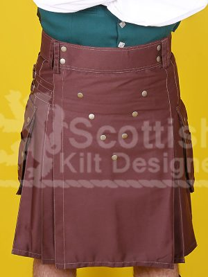 Brown Scottish Two Toned Kilt Design