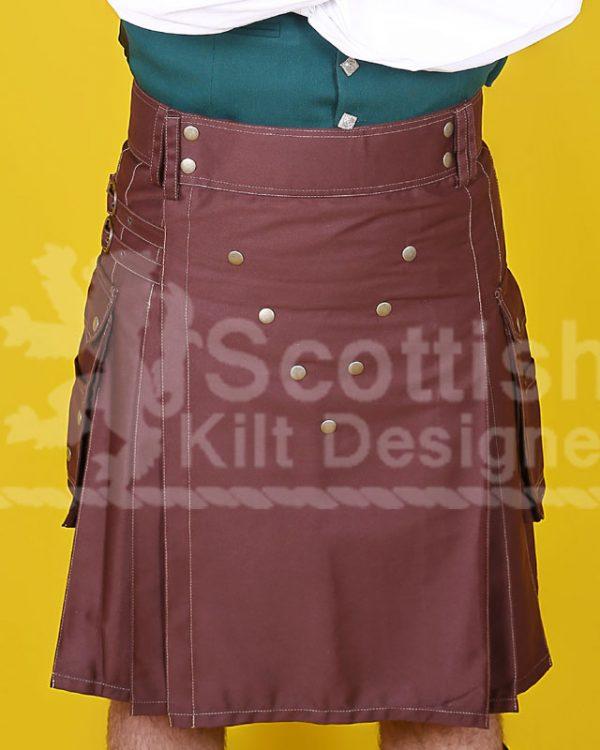 Brown Scottish Two Toned Kilt Design