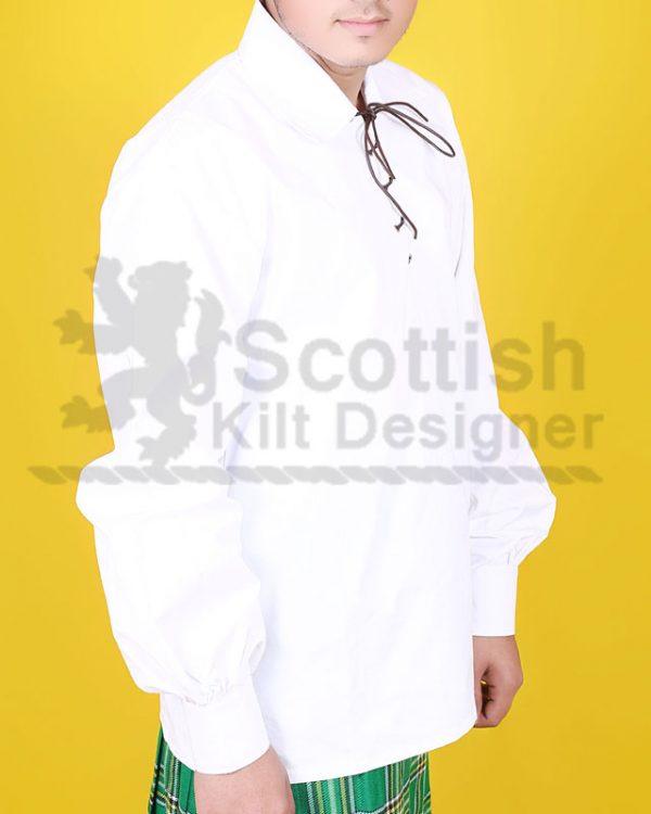 White Scottish Jacobite Shirt