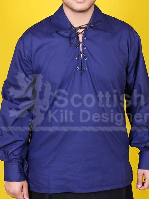 Men Blue Jacobite shirt