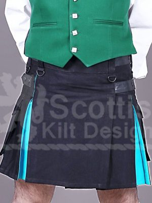 Scottish Blue Two toned Modern Kilt